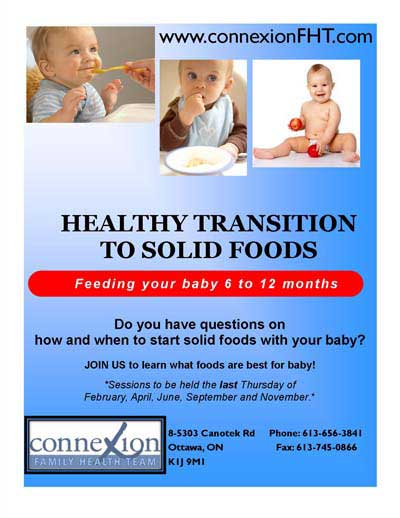 Healthy Transition to Solid Foods